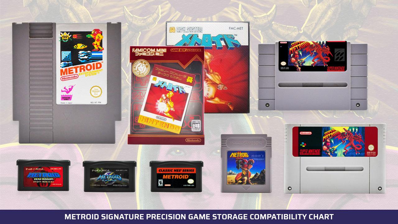 Metroid Signature Precision Game Storage Compatibility Chart